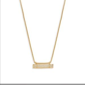 NWT Kendra Scott Leanor Bar Necklace - Drusy